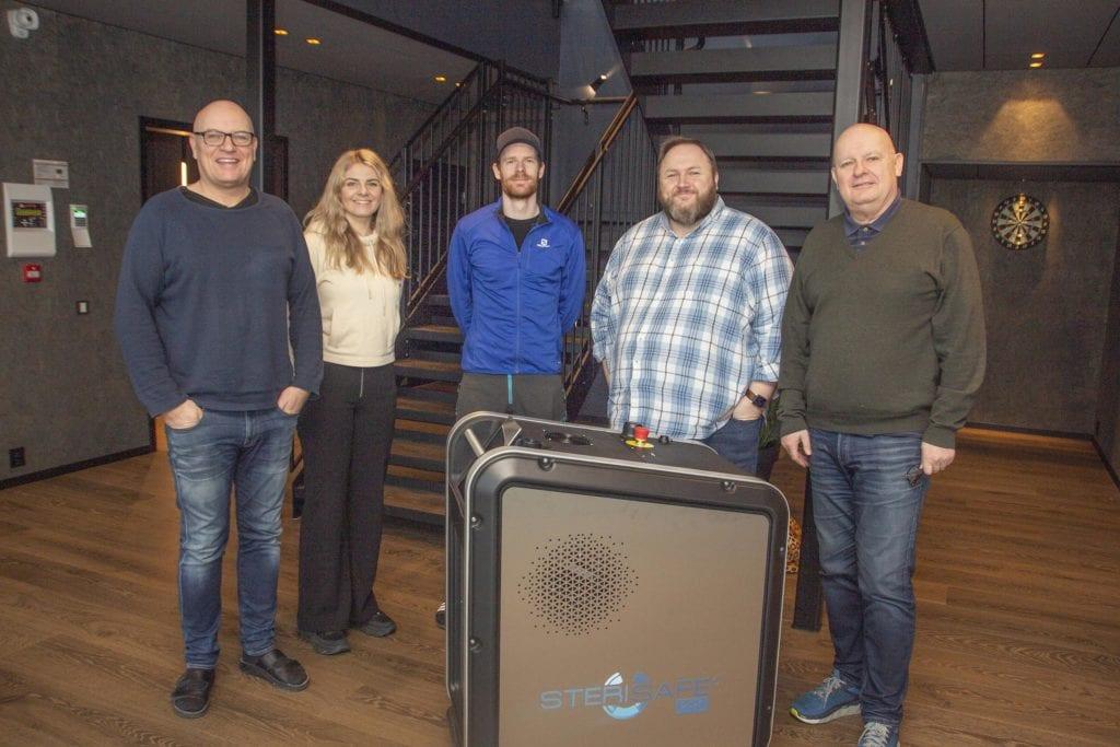 """Copra AS lanserte i går """"Sterisafe Pro"""", ein desinfeksjonsrobot retta mot helsesektoren."""