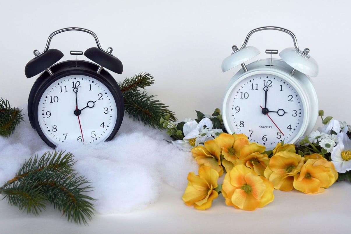 Bildet viser to vekkerklokkar