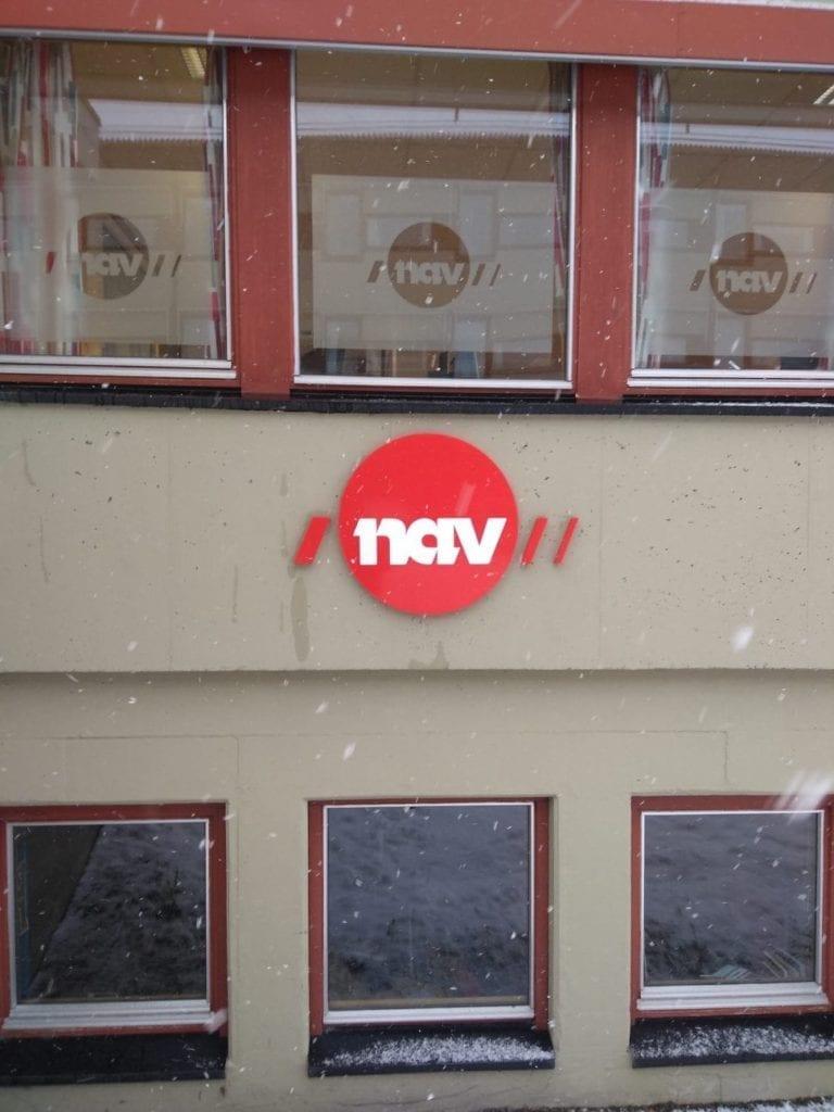 Bilde av fasaden til NAV-kontoret på Vestnes