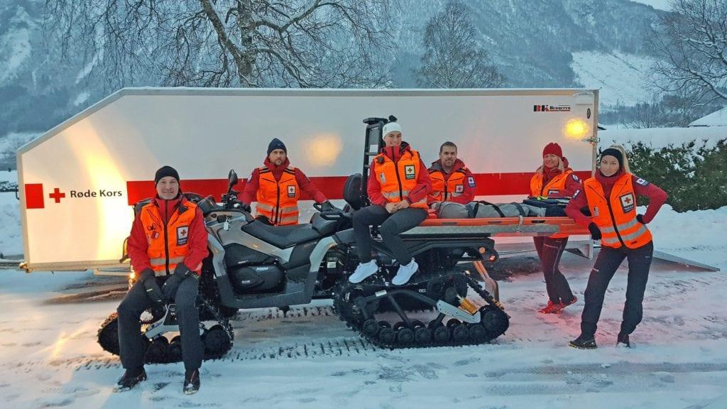 ATV og mannskap frå Røde Kors Tresfjord