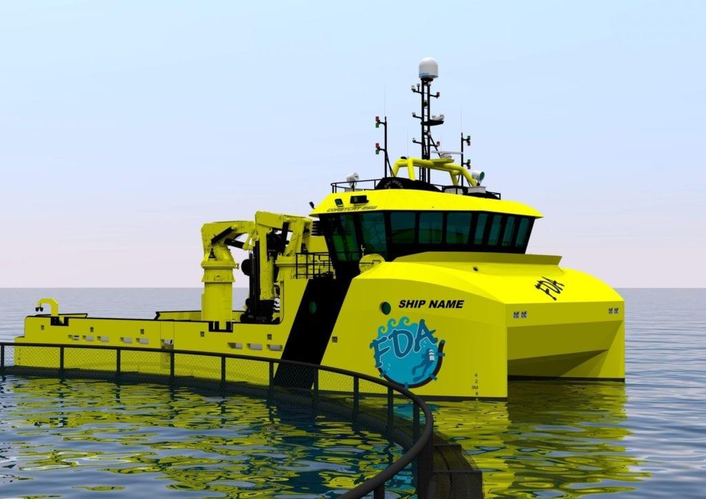 Illustrasjon av båten. Tomra Engineering står for designet. (Illustrasjon: Tomra Engineering/Roy Frostad)
