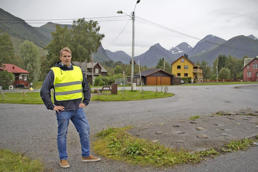 Gunvald Fauske som bussvakt