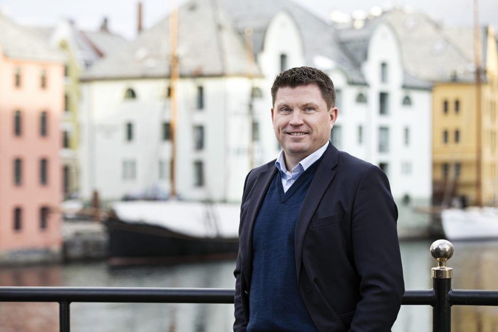 Administrerende direktør i Sparebanken Møre, Trond Nydal. (Foto: Kristin Støylen)